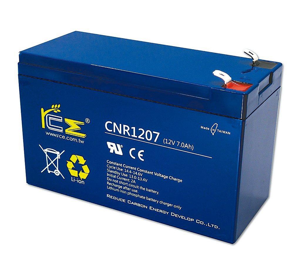 RCE推出台灣唯一款可取代傳統小型UPS鉛酸電池的鋰鐵電池,壽命為鉛酸電池3倍,...