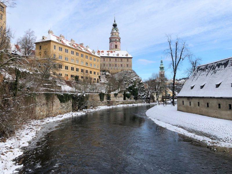 捷克人心中最美的小鎮庫倫洛夫(Cesky Krumlov)。聯合報系資料照片/記者魏妤庭攝影