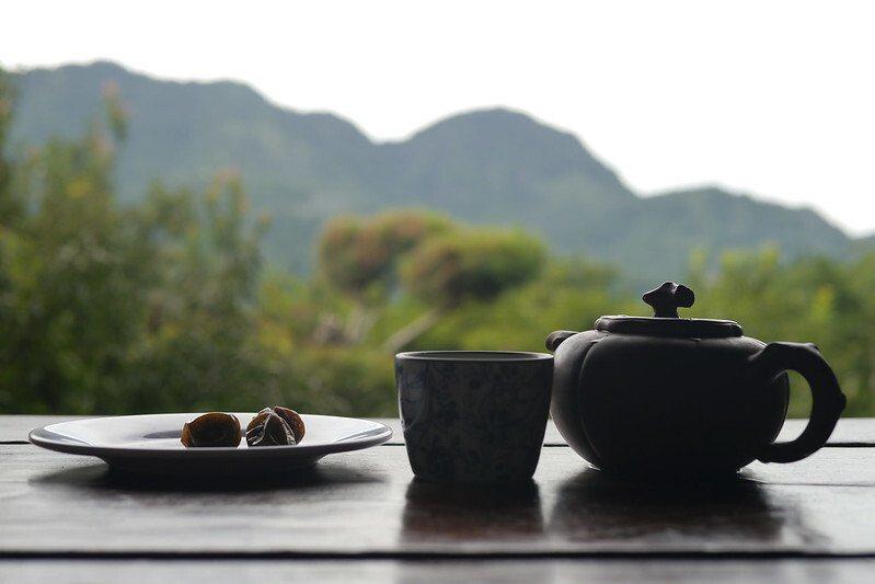 一壺阿里山茶的早餐。