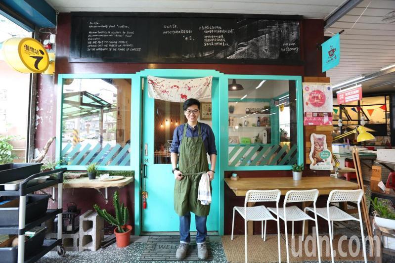 基隆市源遠市場將傳統小麵店改造成文青咖啡館,還賣起義大利、甜點,翻轉傳統市場印象。圖/經濟部提供