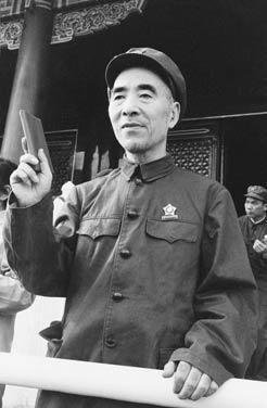 我國政府率先獲得中共絕密文件,揭發林彪事件始末,圖為文革時的林彪。 圖/張耀民提供
