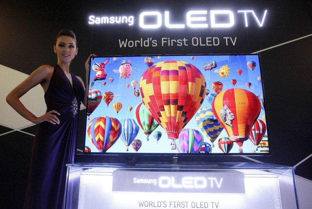 三星電子洽談向LGD採購液晶面板,圖為三星的電視機。(圖/路透)
