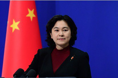 大陸外交部發言人華春瑩。取自環球網