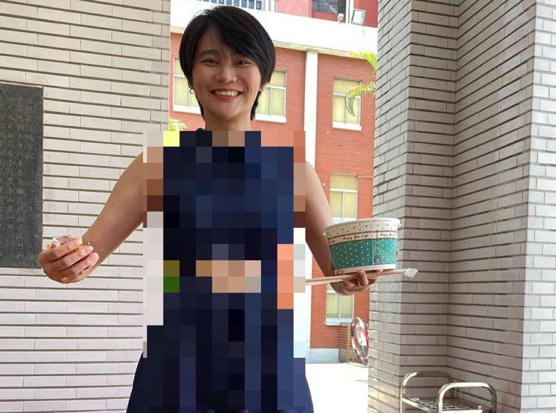 立委賴品妤中空裝讓網友都看到驚呆。圖/截自立委高嘉瑜臉書