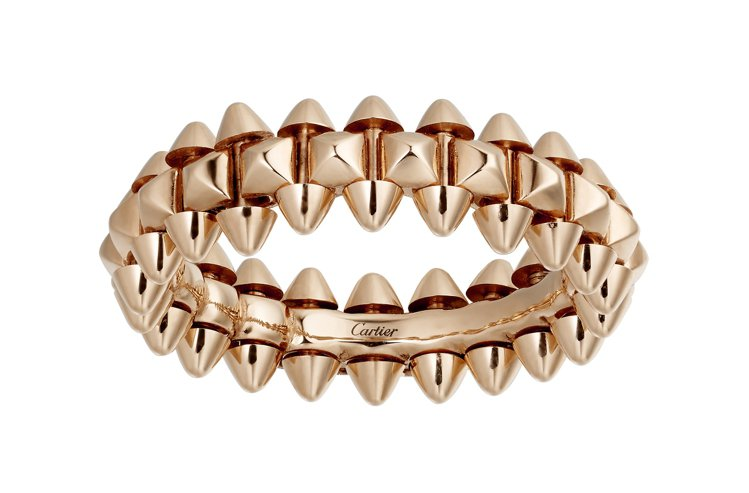 CLASH DE CARTIER玫瑰金戒指小型款,65,000元。圖/CHAUM...