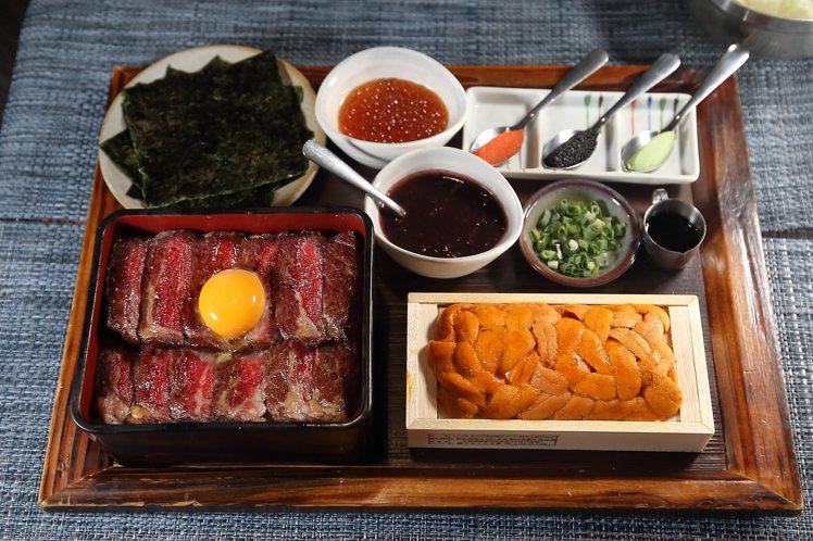 北海道三倍爆膽王丼,每份1,599元。記者陳睿中/攝影