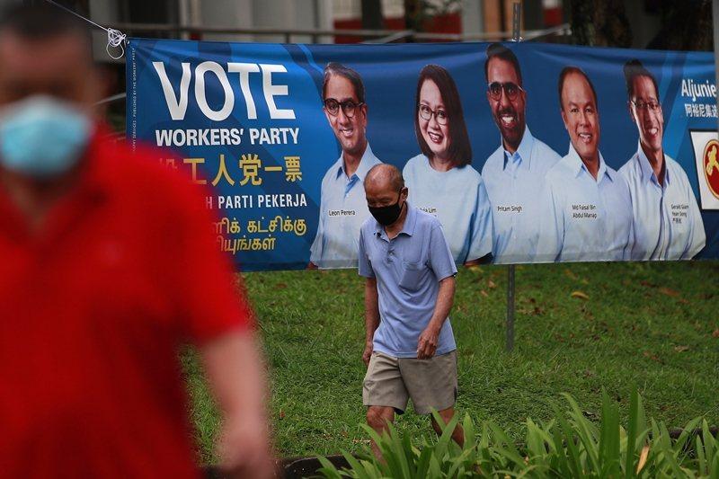 贏得第二個集選區的工人黨,也是近三屆選舉中,唯一在選舉中贏得席次的反對黨。 圖/歐新社