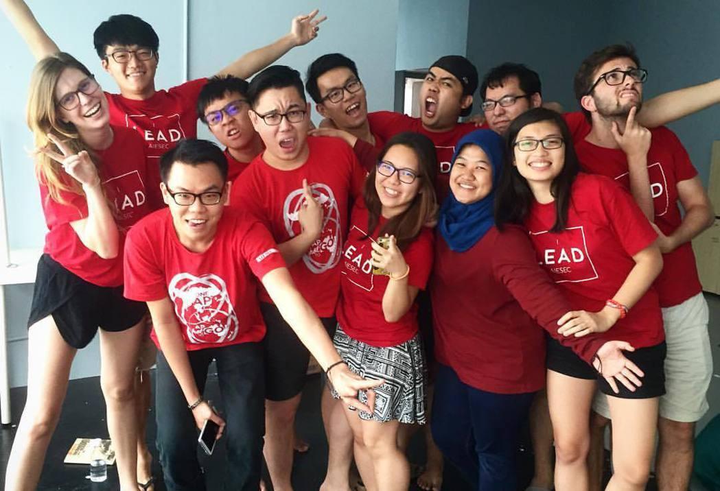 馬來西亞AIESEC團隊合照。 圖/曾華翊提供