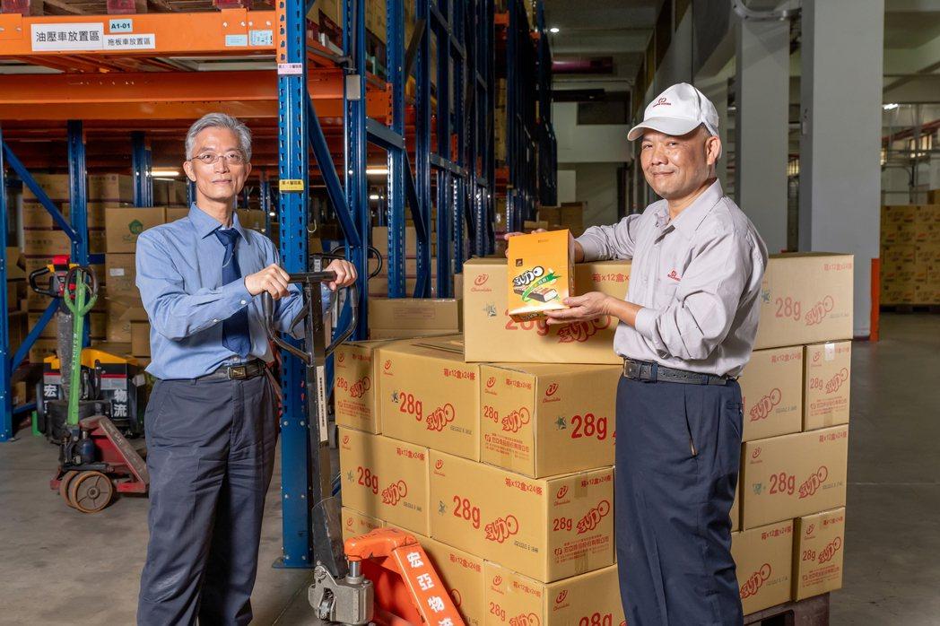 宏亞實踐循環經濟的幕後兩大推手——吳哲維副總和賴國書經理。 圖/吳欣穎攝影