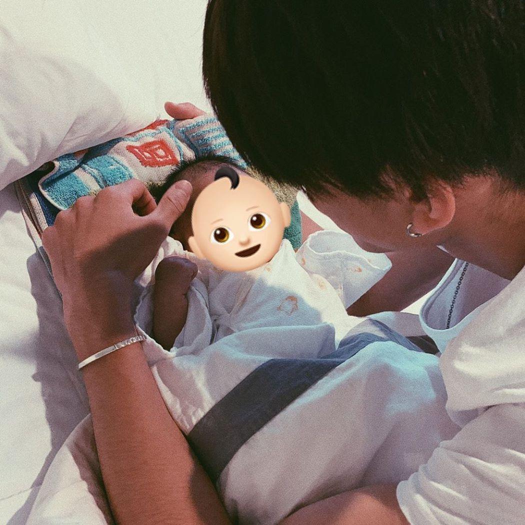 前田俊看到女兒出生很感動。圖/擷自IG