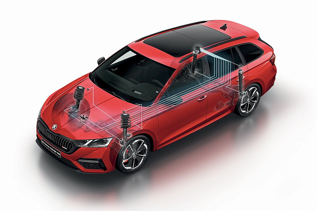 ŠKODA Octavia RS選的DCC主動式底盤控制系統,可進一步增強駕馭感...