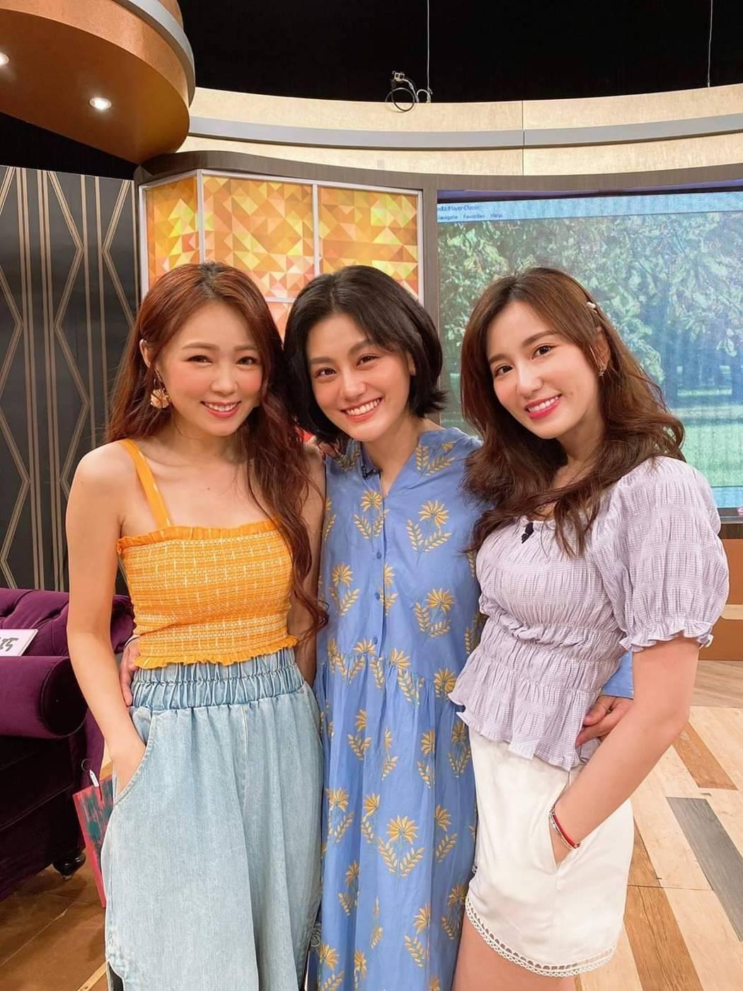 丫頭(左起)、小蠻、Apple當年從「我愛黑澀會」中出道,至今仍是好姐妹。圖/摘...