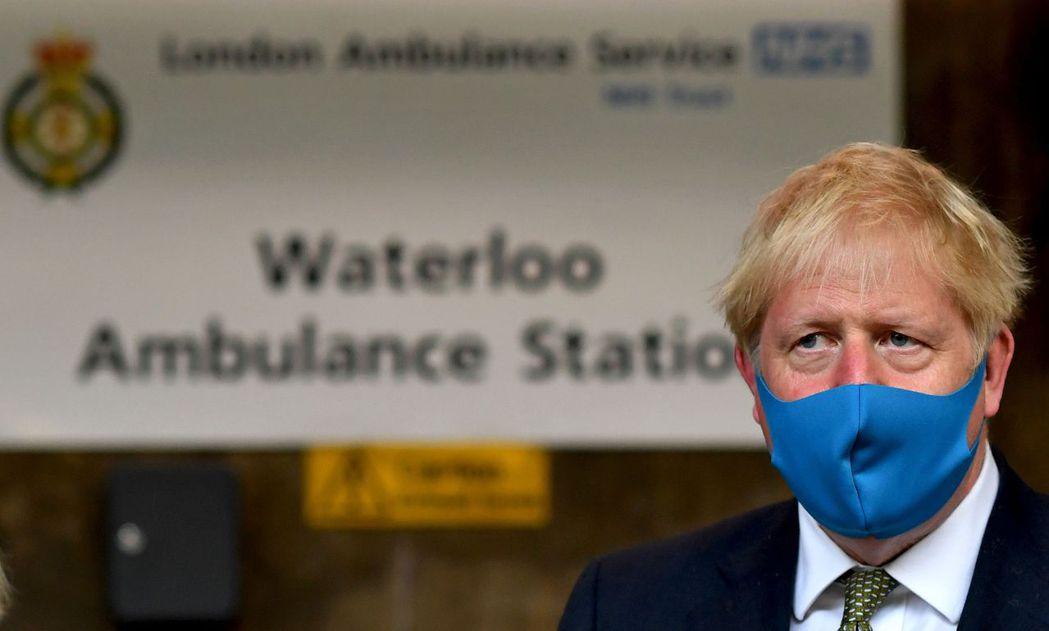 英國首相強生。 法新社