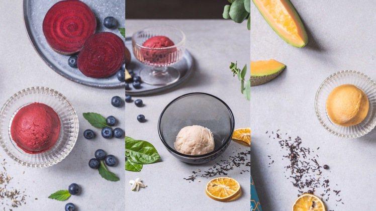 P&T與分子藥局推出限量聯名「心靈安慰劑 」6款茶香冰淇淋。圖/瑪黑家居提供