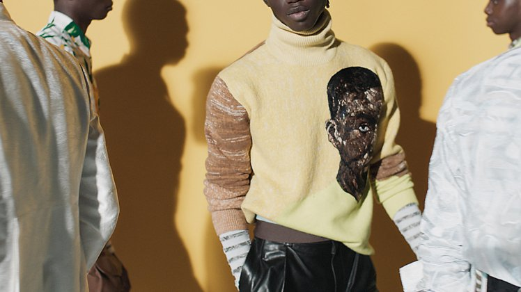 DIOR發表2021夏季系列男裝,以Amoako Boafo藝術家所繪的肖像為靈...