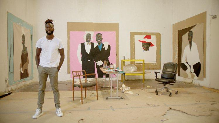 藝術家Amoako Boafo在迦納的工作室成為影片主題之一。圖/DIOR提供