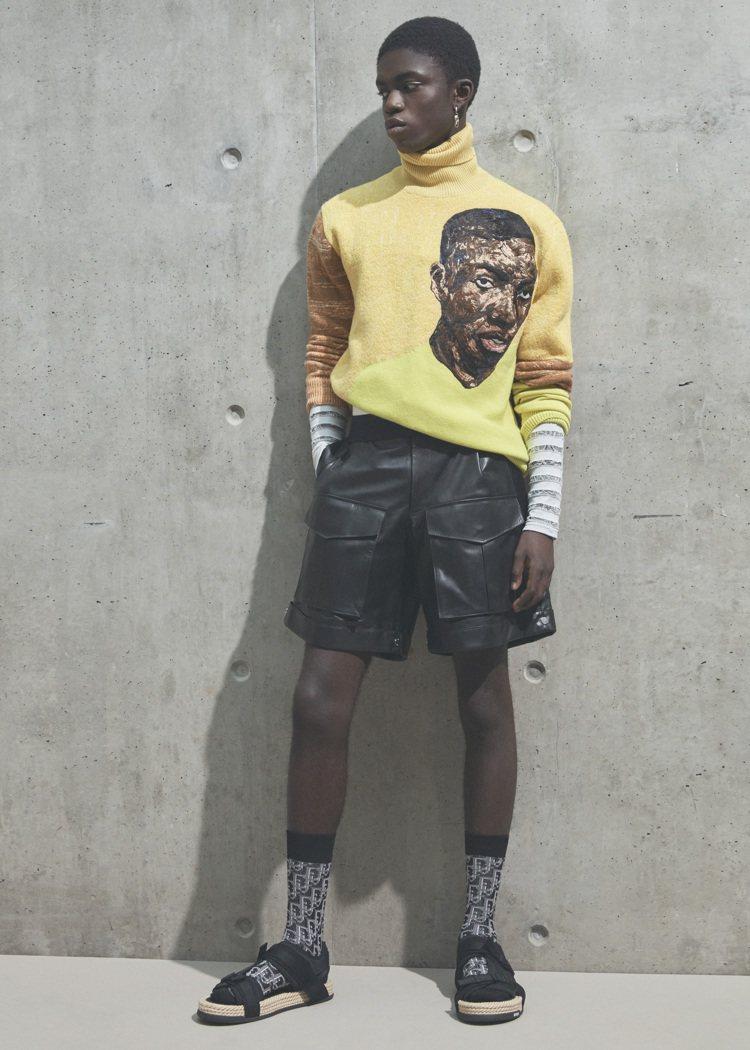 Amoako Boafo對於顏色的敏銳度,也融入夏季男裝設計。圖/DIOR提供