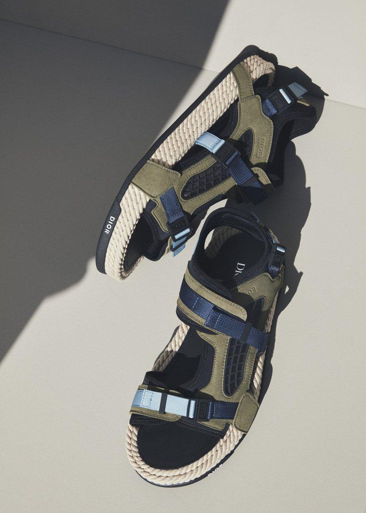 運動涼鞋是2021夏季男裝的主要搭配單品。圖/DIOR提供