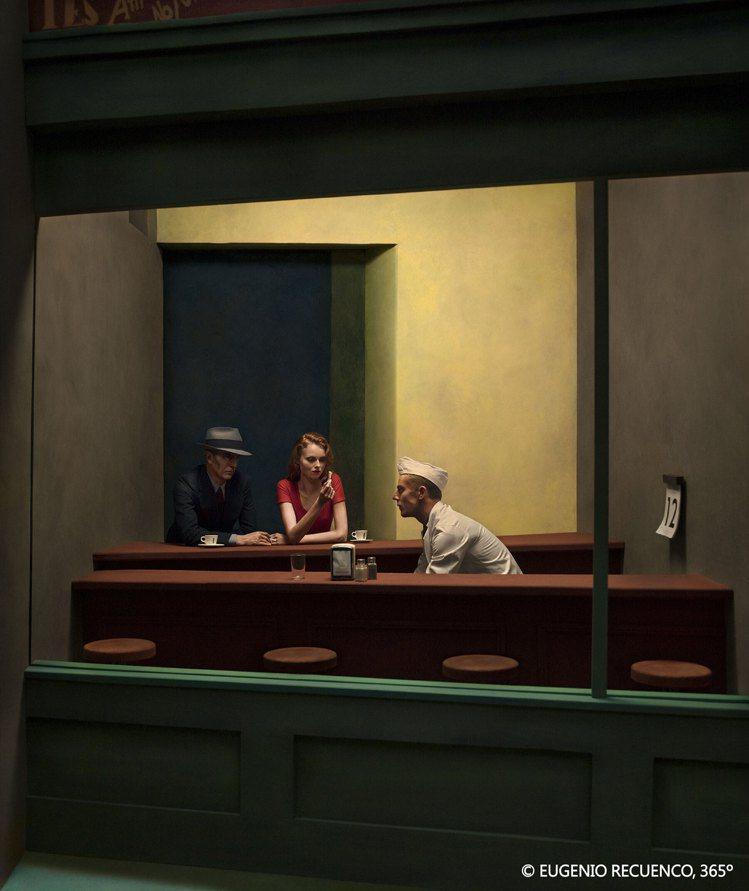 《10月12日》本作致敬愛德華·霍普(Edward Hopper)的經典畫作。圖...