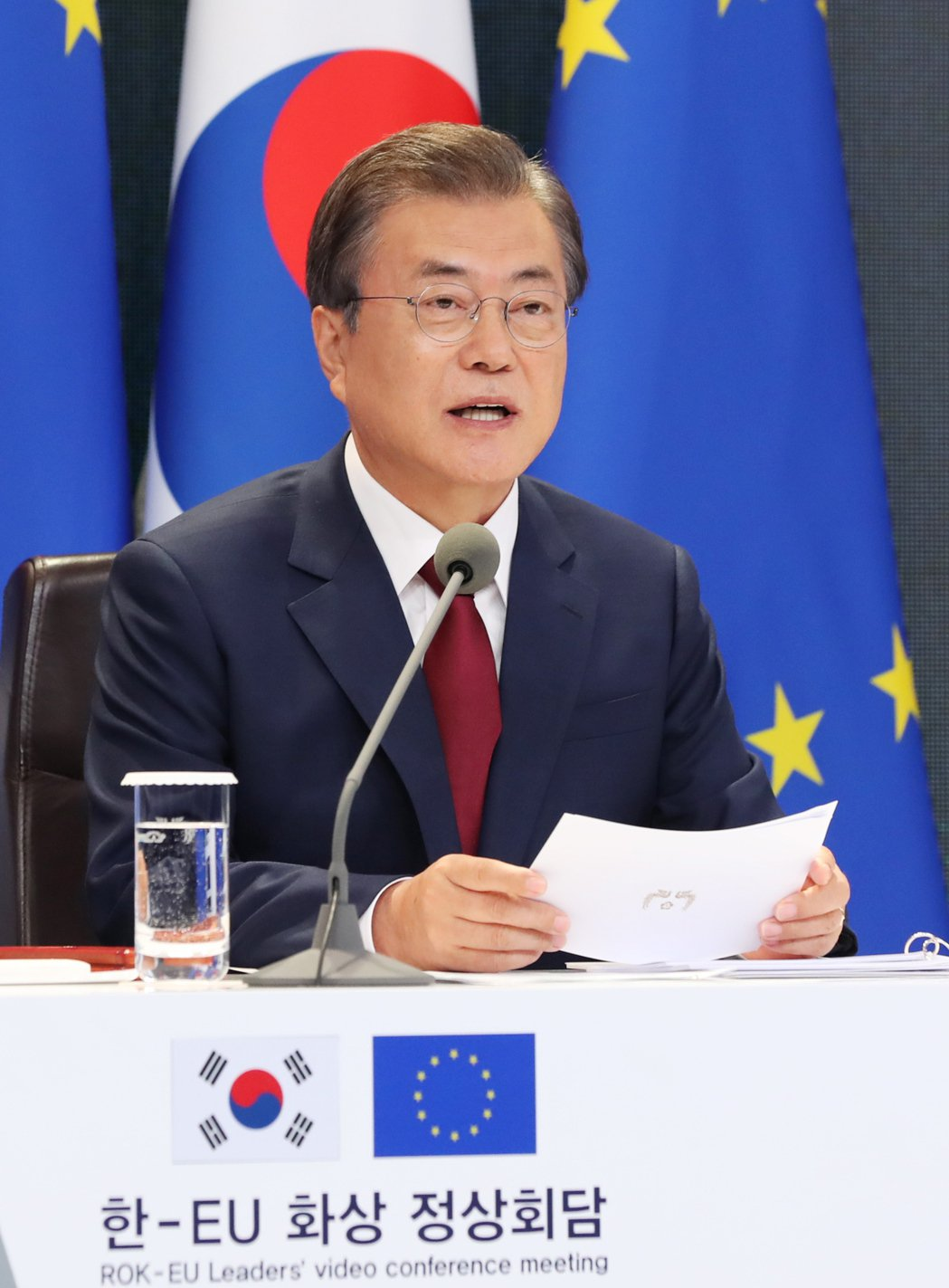 南韓總統文在寅準備施行南韓版新政。歐新社
