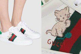 貓咪刺繡配粉紅小豬 GUCCI新款Ace球鞋超可愛!