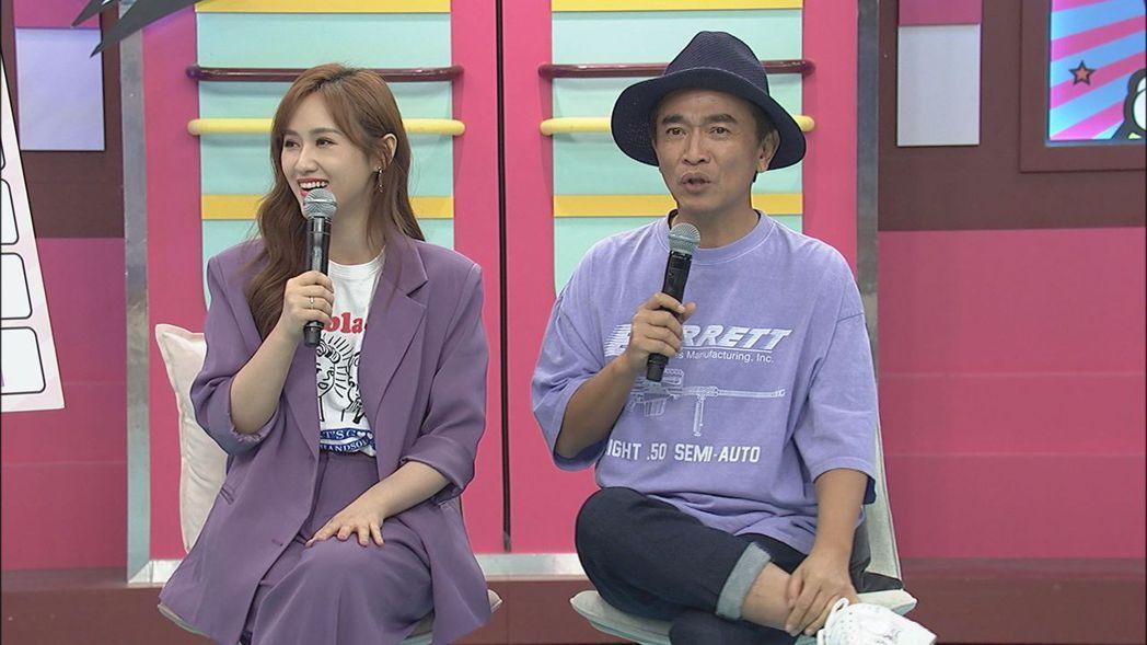 吳宗憲(右)竟在女兒面前提起陳孝萱的名字。圖/中天提供
