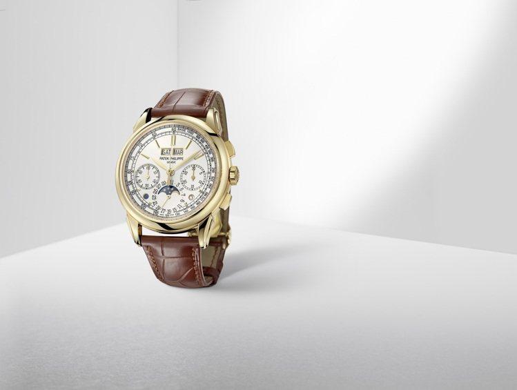 編號5270J-001萬年曆計時碼表,訂價514萬元。圖/百達翡麗提供