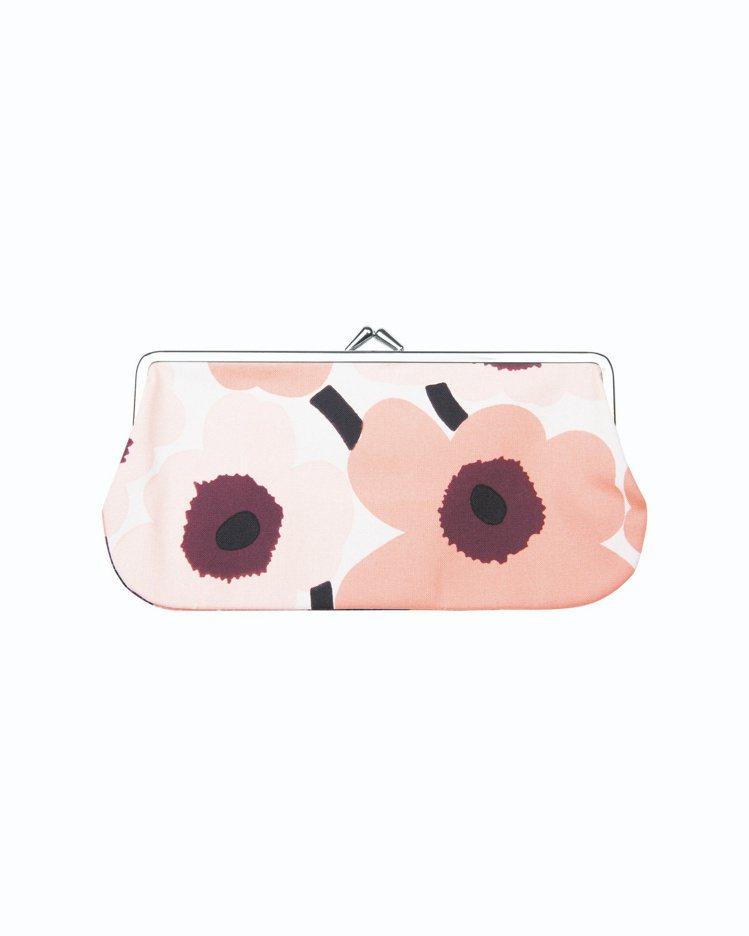 MiniUnikko口金收納包(粉色),950元。圖/Marimekko提供