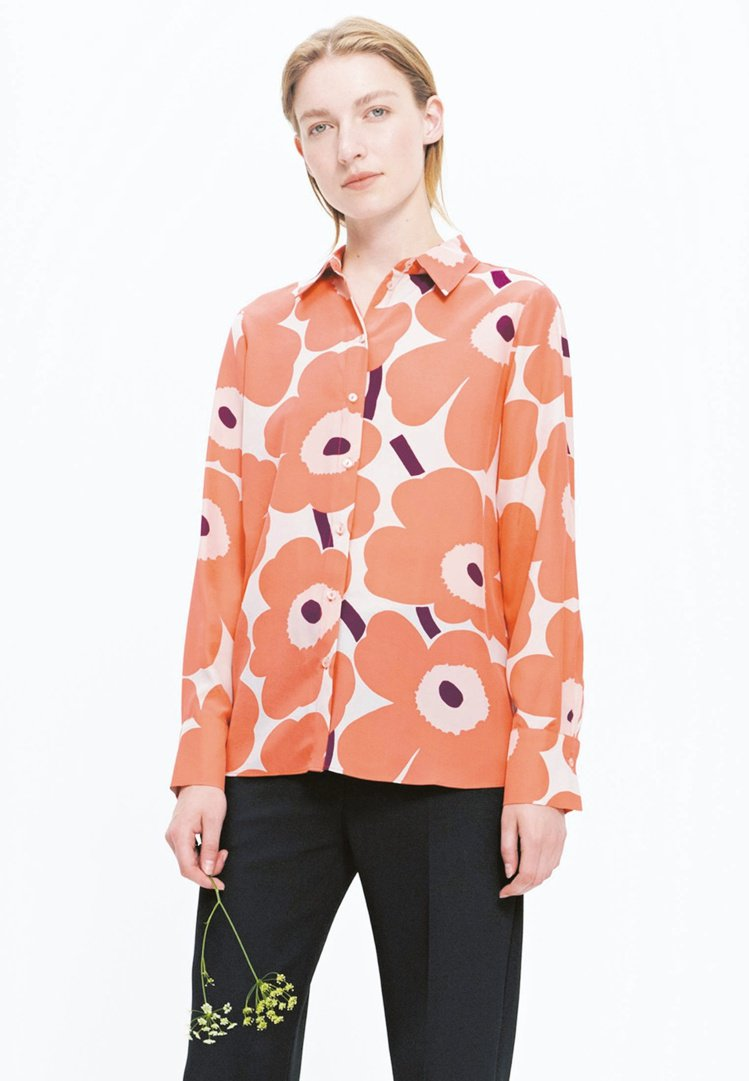 unikko印花襯衫,10,450元。圖/Marimekko提供