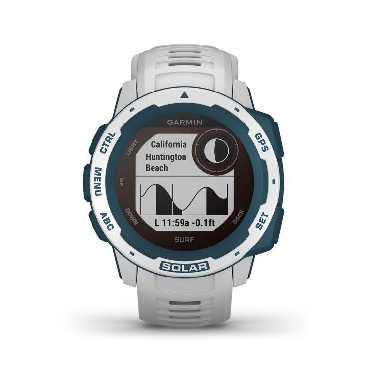 Garmin Instinct Solar本我系列太陽能GPS智慧腕表運動衝浪版...