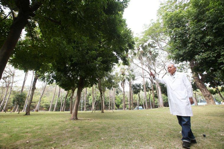 高雄長庚醫院名譽院長陳肇隆醫學成就非凡,愛種樹的他多年來讓高雄長庚醫院周遭綠意盎...