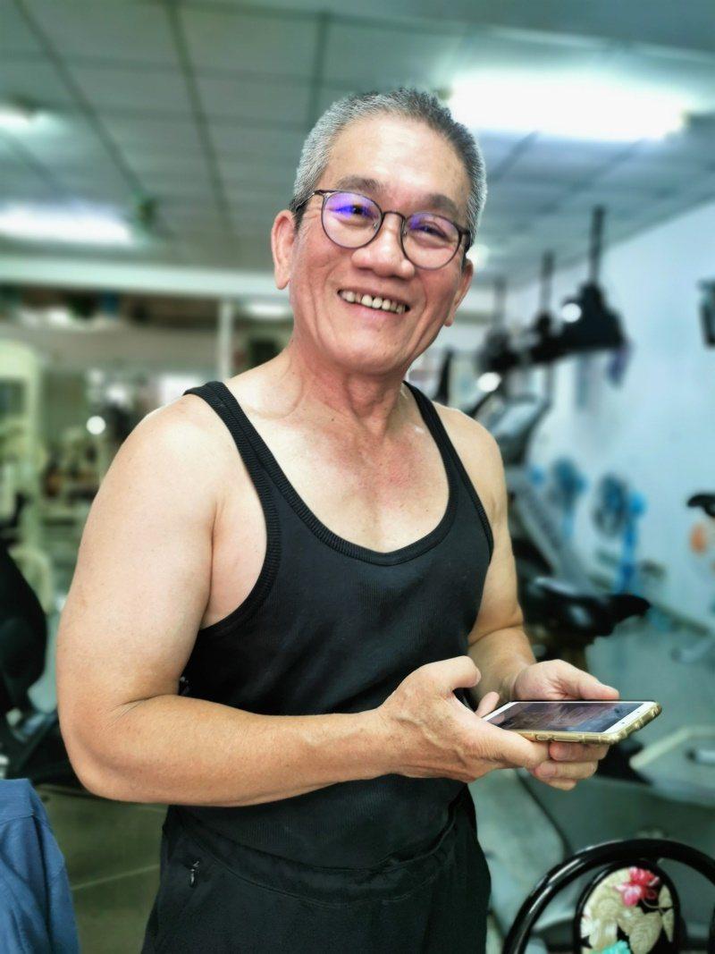 賴昇宏說,健身流汗很舒服,「我現在比10年前跑新聞還要健康!」 圖/卜敏正 攝影