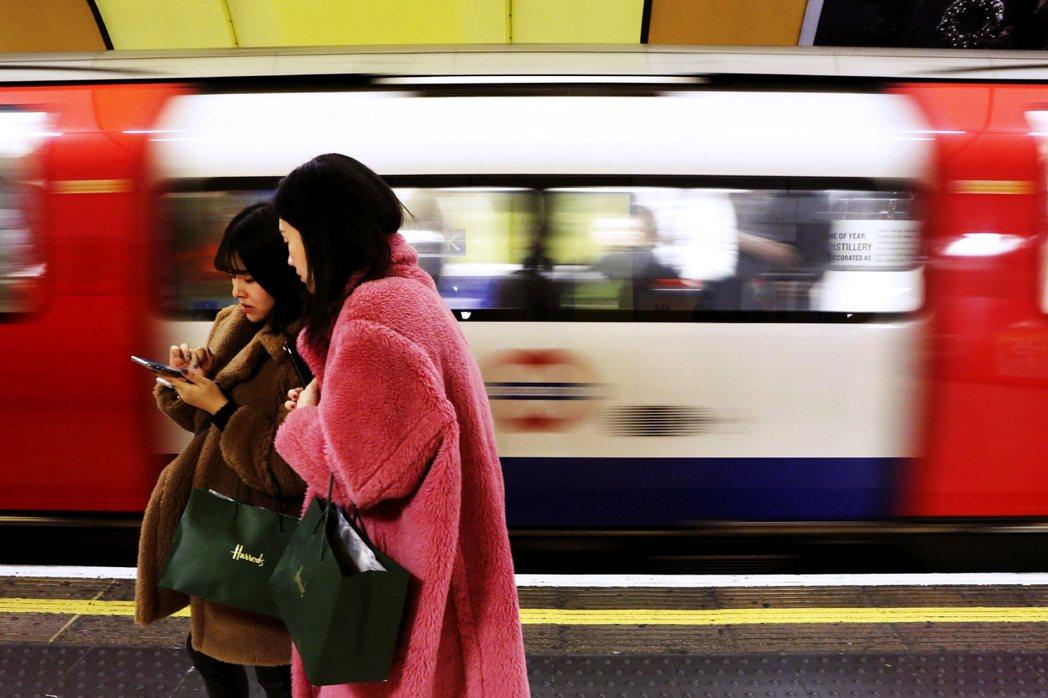 英國地鐵。 圖/美聯社