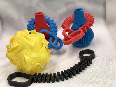 新纖利用3D列印製作新品。 圖/新纖提供