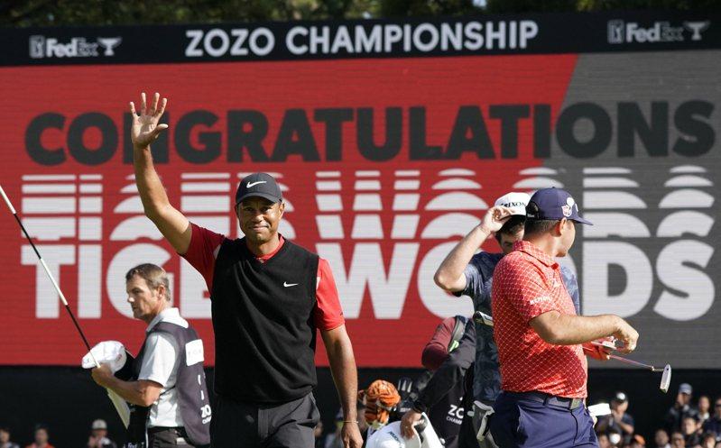 PGA復賽前5站都缺席,美國名將「老虎」伍茲(Tiger Woods)本周紀念錦標賽首度回歸。 美聯社