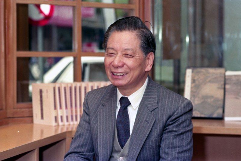 九歌出版社創辦人蔡文甫,攝於1992年。 圖/聯合報系資料照