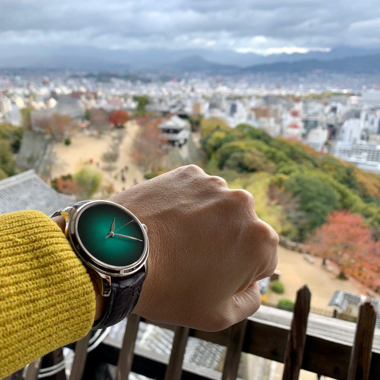 從松山城天守閣眺望松山市景。圖/Luis提供