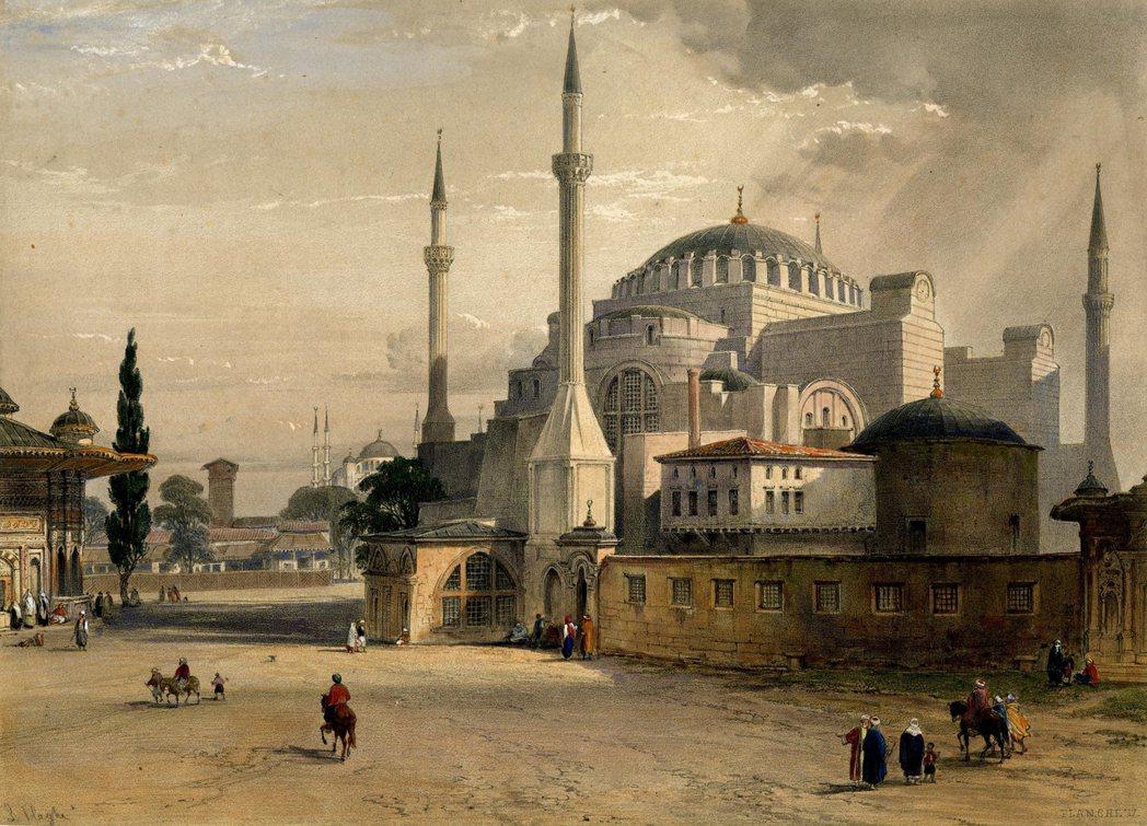 19世紀時的聖索菲亞清真寺畫作。 圖/維基共享