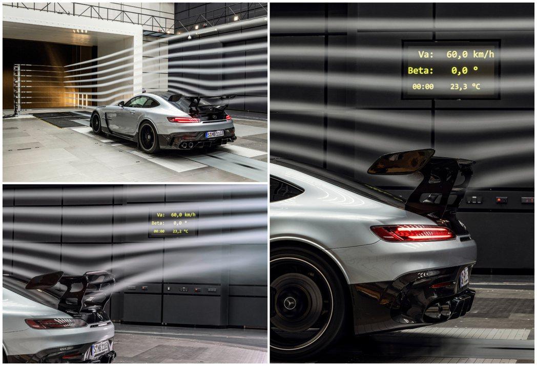 AMG GT Black Series的雙層主動式GT尾翼能夠對空氣力學產生極大...