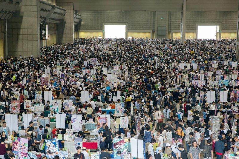 全球知名的日本同人誌銷售會「Comiket」,每年8月中和12月底於東京都港區的國際展示場Tokyo Big Sight舉辦。 圖/歐新社