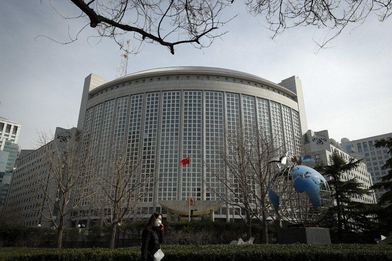 位於北京朝陽門的中共外交部大樓。美聯社