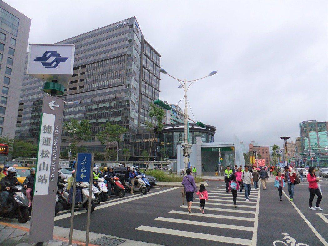 松山站。記者游智文/ 攝影