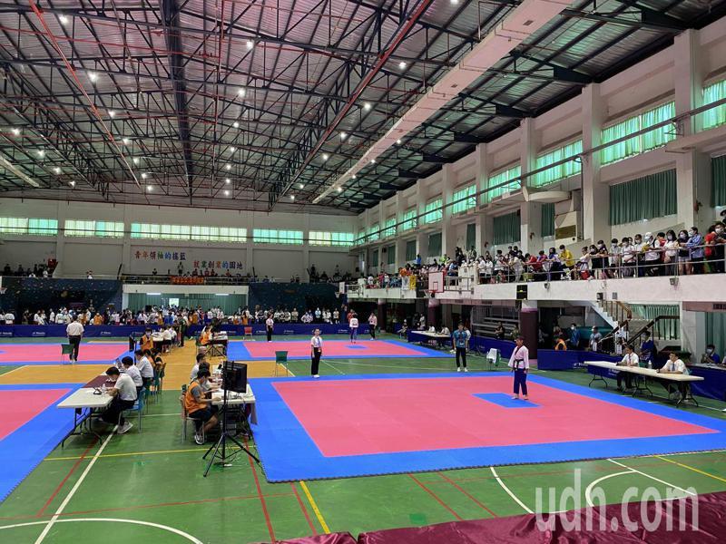 跆拳道項目賽事今在大仁科技大學體育館登場。記者劉星君/攝影