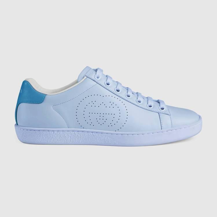 New Ace 粉藍球鞋,21,200元。圖/GUCCI提供