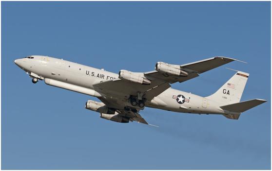 美國空軍E-8C空地監視飛機。(取自《環球網》)