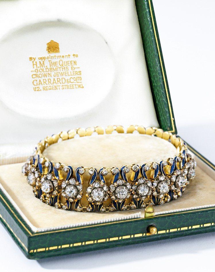 曾隸屬於英國女王伊麗莎白二世的妹妹瑪格麗特公主的21歲生日禮物,Garrard ...