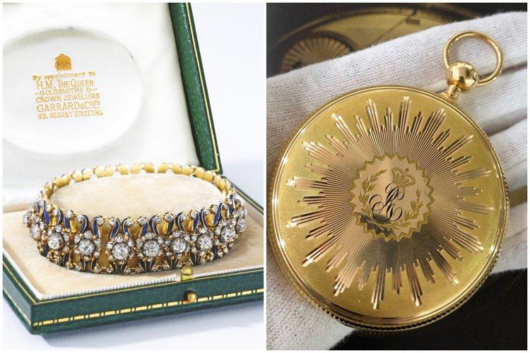 曾為英國皇室擁有的珠寶與時計,在拍賣會上拍出好成績。圖/蘇富比提供、取自IG @...