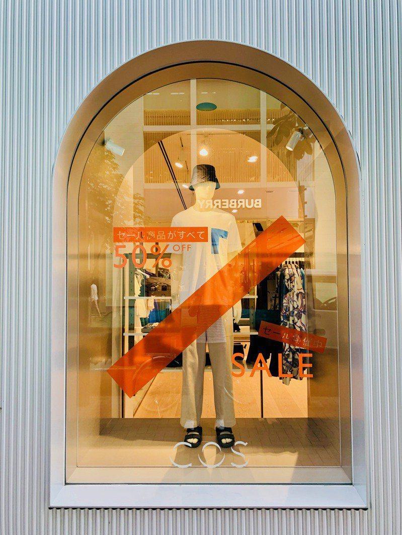 喜歡的服裝店,折扣已經開始,但店裡卻門可羅雀。 圖/張維中提供