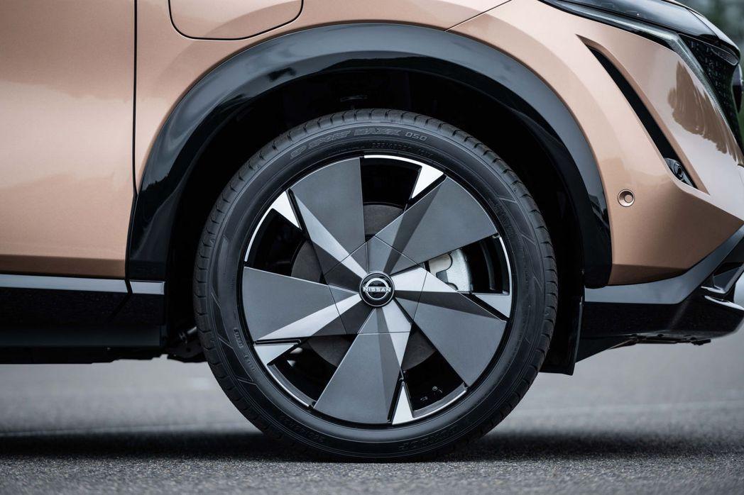 Ariya標配19吋輪圈,可選配升級至20吋。 摘自Nissan