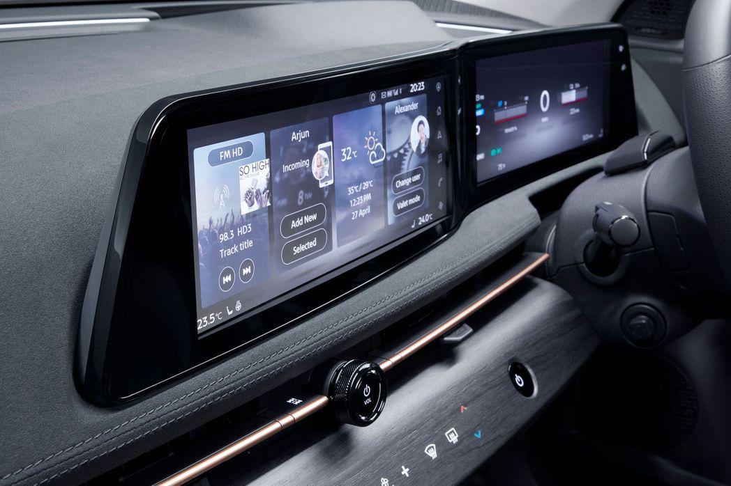 兩組12.3吋儀表板涵蓋了所有能夠操控的系統內容。 摘自Nissan
